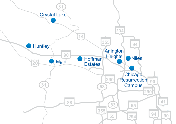 Map of Virginia Oncology Associates Locations