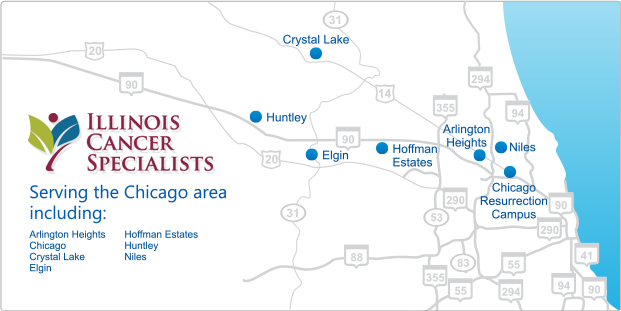 Hoffman Estates Zip Code Map.Search Locations And Physicians Illinois Cancer Specialists